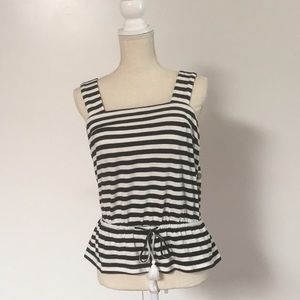 Lucky Brand Black and White Stripe top